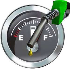 Gas milage for each Pickup Truck when on empty
