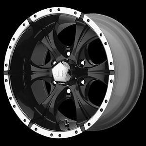 Pickup Truck wheels Helo in black finish